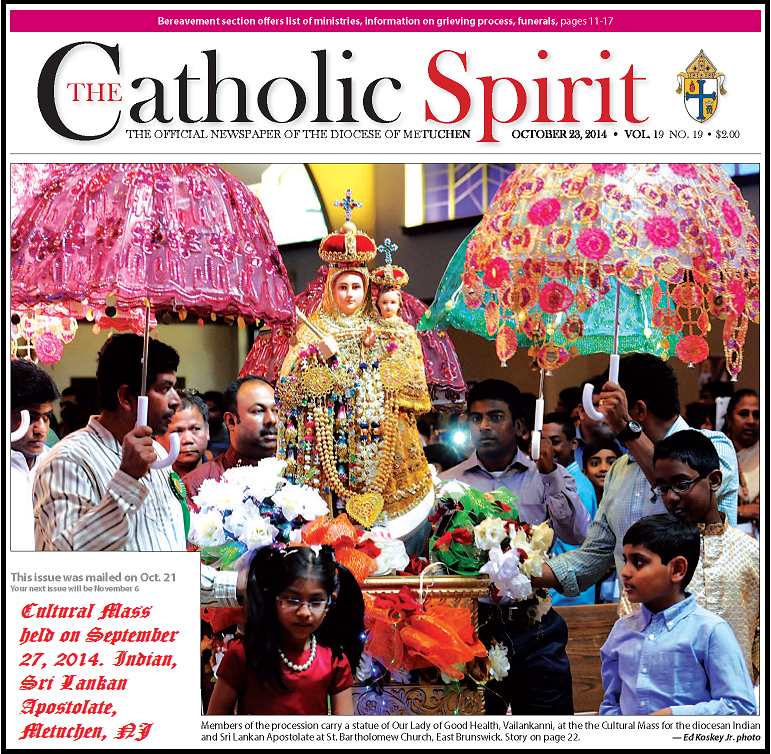 "Please click on the picture to read the report in ""Catholic Spirit"""