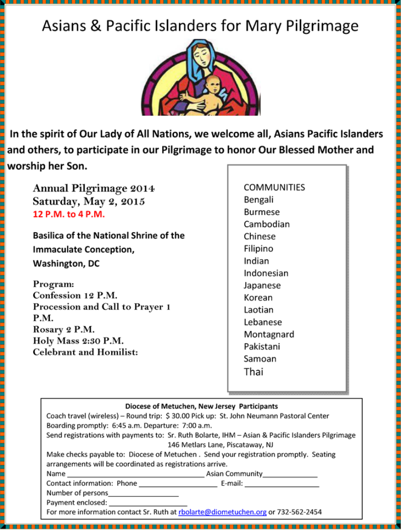 May 2 2015Asian pilgrimage