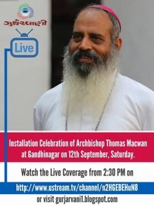 LiveGurjarvaniInstallationArchbishop Thomas Macwa