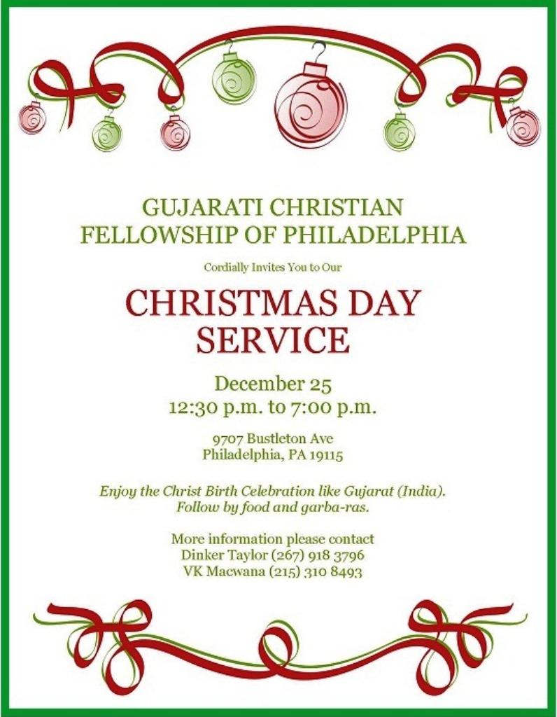 GCFP Christmas Invitation