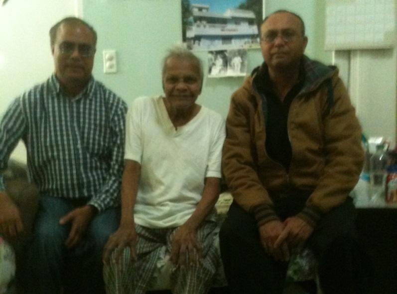 Mr. Linus Taylor with Mr. Kirit & James Jakaria.